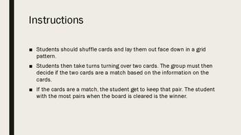 Periodic Table Memory Card Game