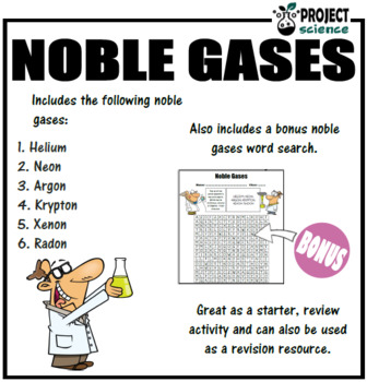 Periodic Table Noble Gases Fact Fan