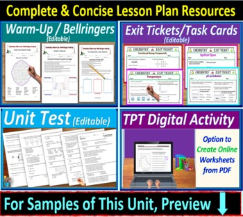 Periodic Table Topic Bundle: 3 Essential Skills Worksheets for HS Chem