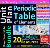 Periodic Table Topic Bundle: 3 Essential Skills Worksheets
