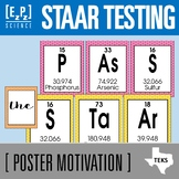STAAR Testing Science Posters and Bookmarks- Periodic Table Theme
