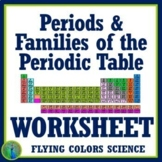 Periodic Table Periods & Families Review Worksheet - Middle School NGSS MS-PS1-1