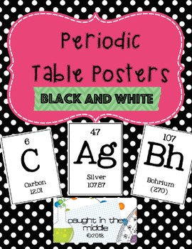 Periodic table posters by caught in the middle tpt periodic table posters urtaz Gallery
