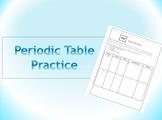 Periodic Table Practice WS
