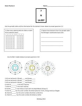 Periodic table practice worksheethomework by science success for periodic table practice worksheethomework urtaz Choice Image