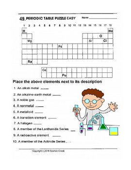 Periodic Table Puzzles Worksheets Teaching Resources Tpt
