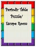 "Periodic Table Puzzle ""Escape Room"" Low Prep. TEKS 8.5ABC"