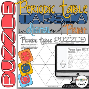 Periodic Table Puzzle For Review Or Assessment By Science From The South