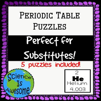 Periodic Table Puzzles