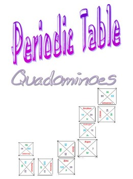 Periodic Table Quadomonoes