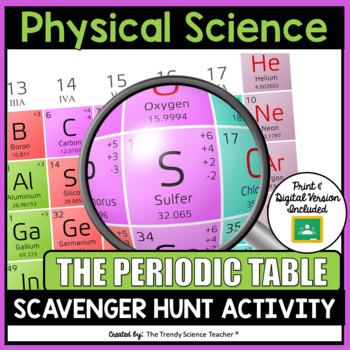 Periodic table scavenger hunt teaching resources teachers pay teachers urtaz Images
