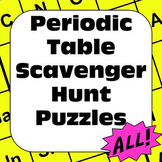 Periodic Table of Elements Scavenger Hunt Puzzles the Complete Bundle