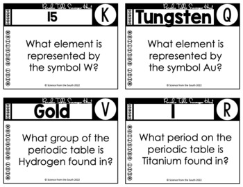 Periodic Table Scavenger Hunt An Interactive Review or Assessment