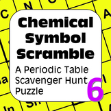 Periodic Table of Elements Scavenger Hunt Puzzle: Chemical Symbol Scramble