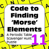Periodic Table of Elements Scavenger Hunt Puzzle: Code to Finding Morse Elements