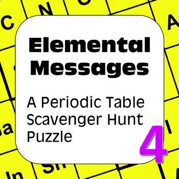 Periodic table of elements scavenger hunt teaching resources periodic table of elements scavenger hunt puzzle elemental messages urtaz Images