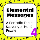 Periodic Table of Scavenger Hunt Puzzle: Elemental Message