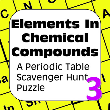 Periodic Table of the Elements Scavenger Hunt: Elements in Chemical Compounds