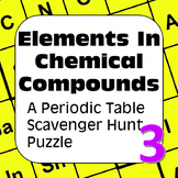 Periodic Table of Elements Scavenger Hunt Puzzle Elements