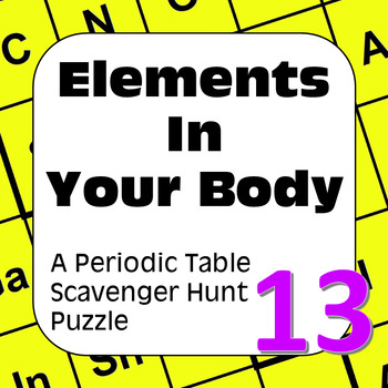 Periodic Table Scavenger Hunt: Elements in Your Body