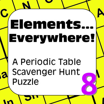 Periodic table of the elements scavenger hunt puzzle elements periodic table of the elements scavenger hunt puzzle elementseverywhere urtaz Image collections