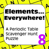 Periodic Table of the Elements Scavenger Hunt Puzzle Elements…Everywhere!