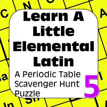 Periodic Table of the Elements Scavenger Hunt: Learn a Lit