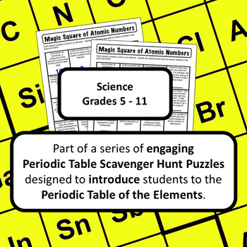 Periodic Table of the Elements Scavenger Hunt: Magic Square of Atomic Numbers