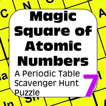 periodic table of the elements scavenger hunt magic square of atomic numbers - Periodic Table With Atomic Number