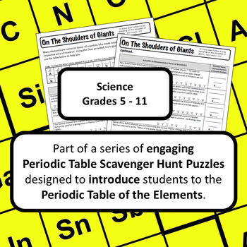 Periodic Table of the Elements Scavenger Hunt: On the Shoulders of Giants