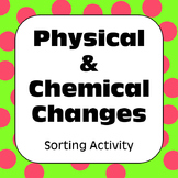 Physical and Chemical Changes Properties of Matter Sorting Activity