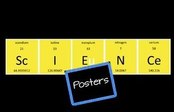 Periodic Table Science Posters Yellow and Black