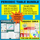 Periodic Table Sort & Match Activity -Google & Paper Combo Bundle
