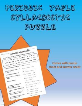 Periodic Table Syllacrostic Puzzle #1
