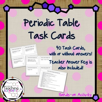 Periodic table task cards by teaching elements tpt urtaz Choice Image