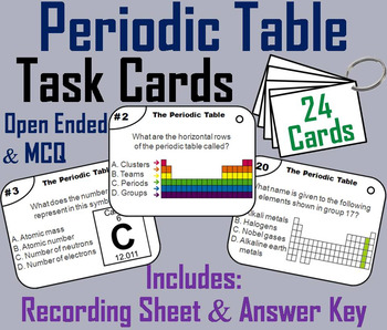 Periodic Table Task Cards