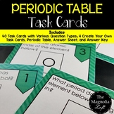 Periodic Table Task Cards (Color and B/W)