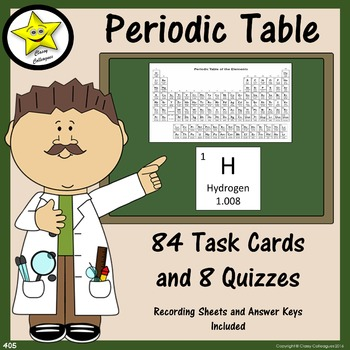 Periodic Table Task Cards and Quizzes