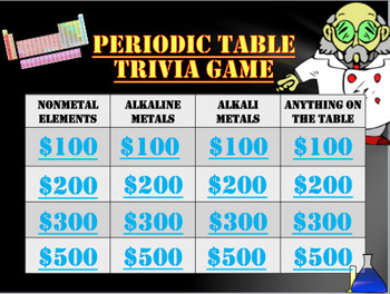 Periodic table trivia game fun for science by teach n learn tpt periodic table trivia game fun for science urtaz Gallery