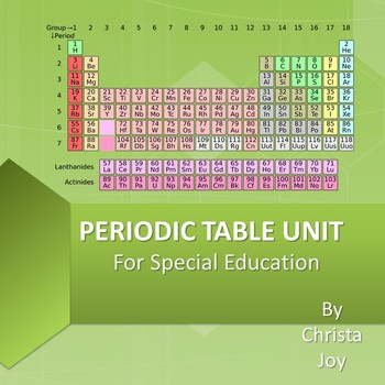 Periodic table unit for special education by special needs for periodic table unit for special education urtaz