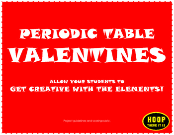 Periodic Table Science Valentines