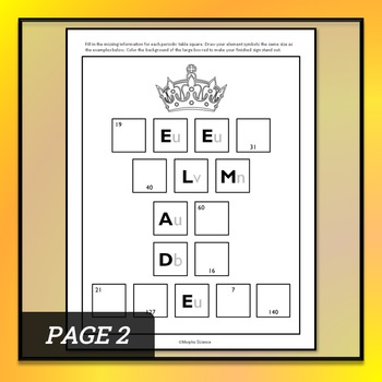 Periodic Table Words - Chemistry Practice Sheet - FREE DOWNLOAD!