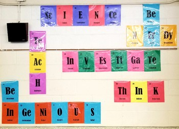 Periodic Table Words Freebie