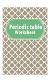 Periodic Table Worksheet