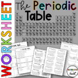Periodic Table Worksheet to Use for Review or Assessment