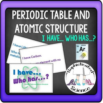 Periodic Table and Atomic Stucture: I have... Who has?  Fr