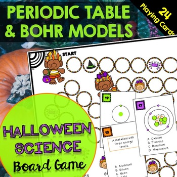 Periodic Table and Bohr Model Board Halloween Science Board Game