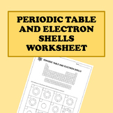 Periodic Table and Electron Shells Worksheet
