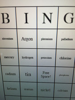 Periodic Table and Element Bingo Game Bundle