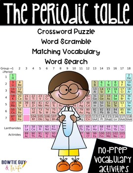 Periodic Table and Elements Vocabulary Activities